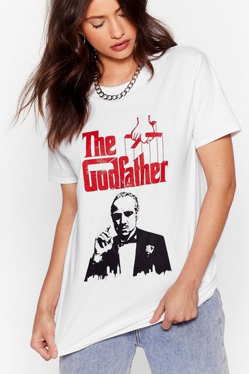 White The Godfather Relaxed Graphic Tee