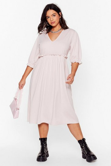 Hushed violet Frill Doing Our Own Thing Plus Midi Dress