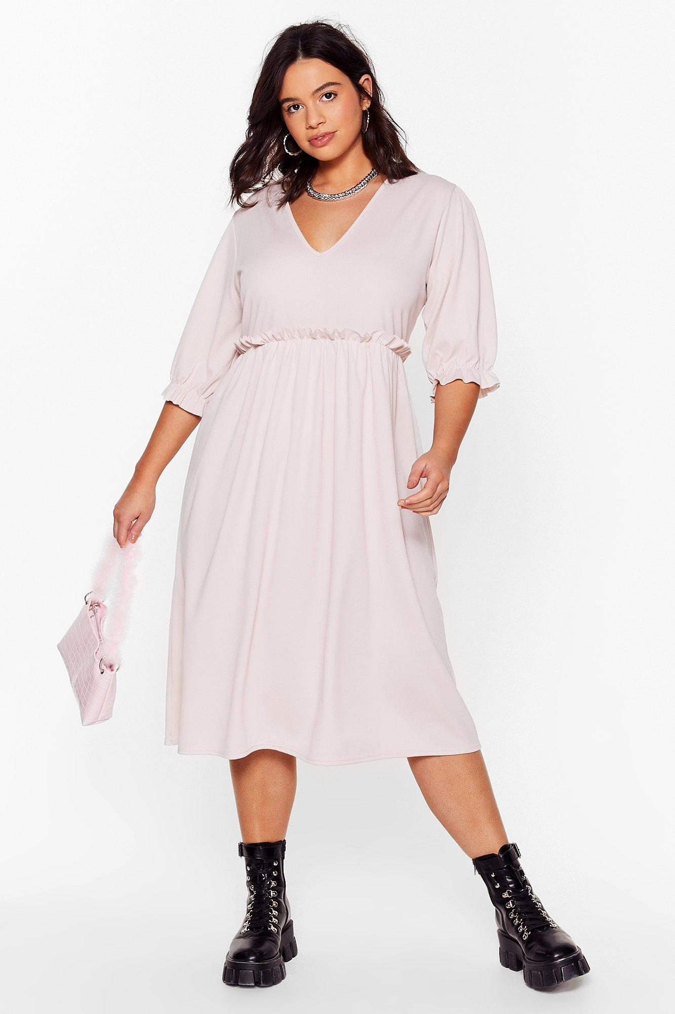 Frill Doing Our Own Thing Plus Midi Dress 6
