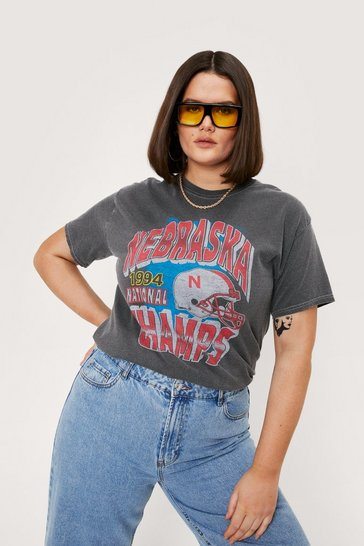 Charcoal Nebraska Champs Relaxed Graphic Tee