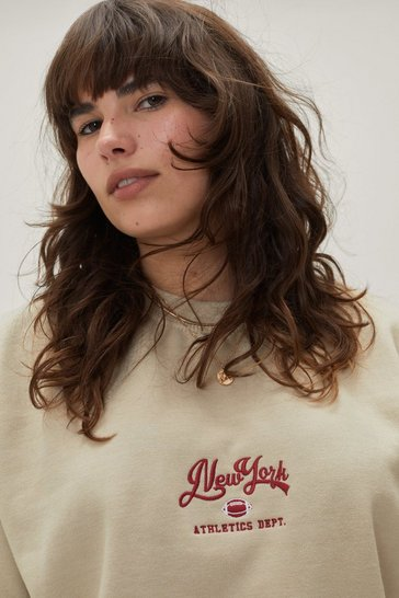 Sand New York Athletic Plus Graphic Sweatshirt
