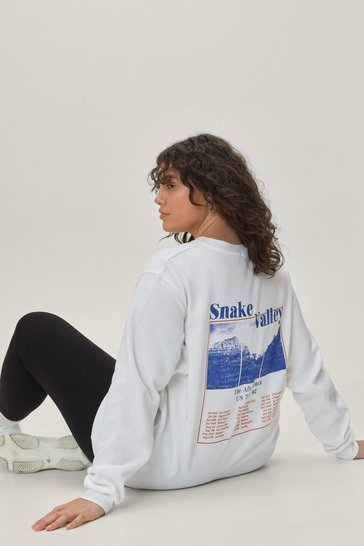 White Snake Valley Plus Graphic Sweatshirt