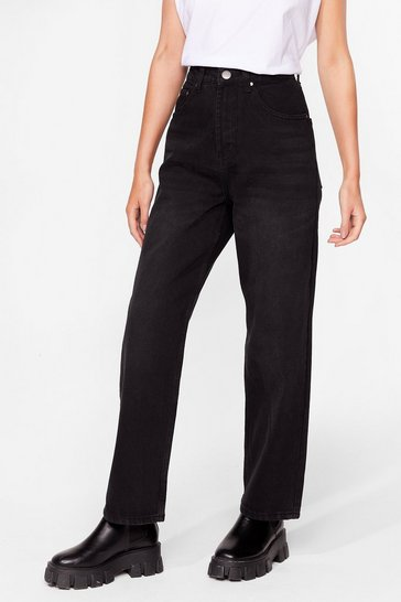 Black Wide It Out High-Waisted Denim Jeans