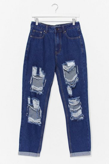 Indigo Open to It Ripped Mom Jeans