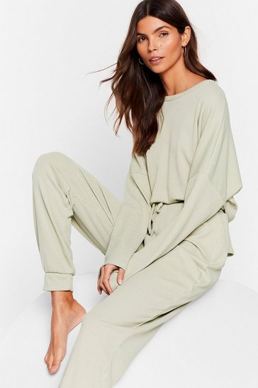 Sage Be More Chill Joggers Lounge Set