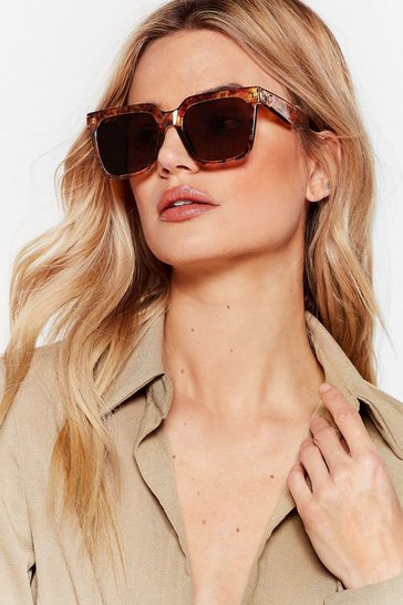 Brown Turtley Awesome Oversized Square Sunglasses