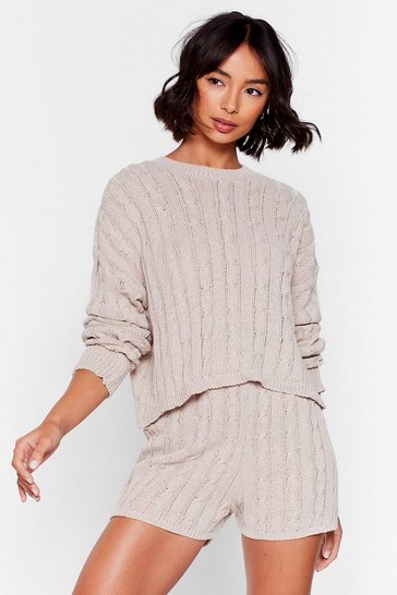 Stone Knit the Stage Sweater and Shorts Set