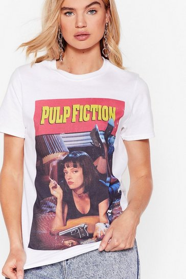 White Pulp Fiction Graphic Tee