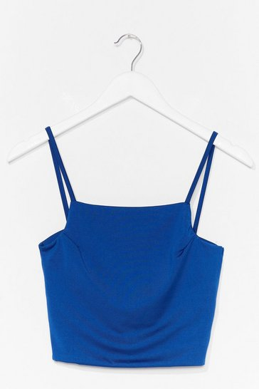 Cobalt Come On Get Strappy Square Neck Crop Top