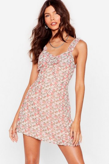 Pink You Grow What to Do Floral Mini Dress