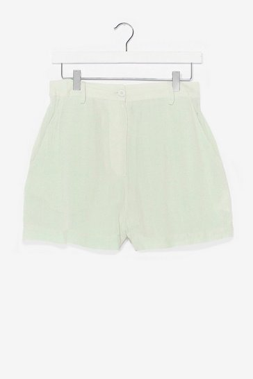 Sage Life's a Beach Crinke Cover-Up Shorts