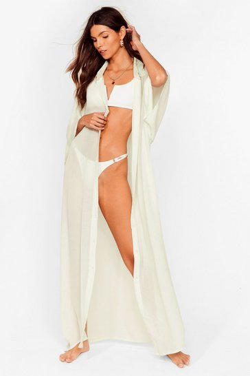 Sage Here Comes the Sun Maxi Cover Up Dress