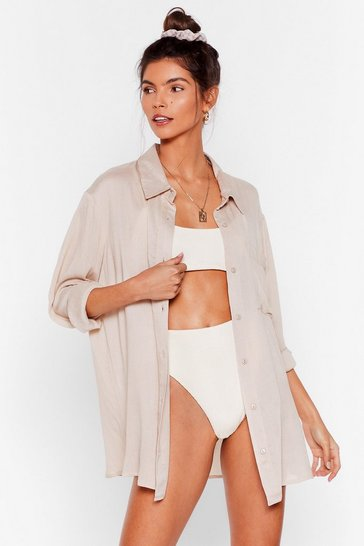 Stone Vacay Mode Relaxed Beach Shirt