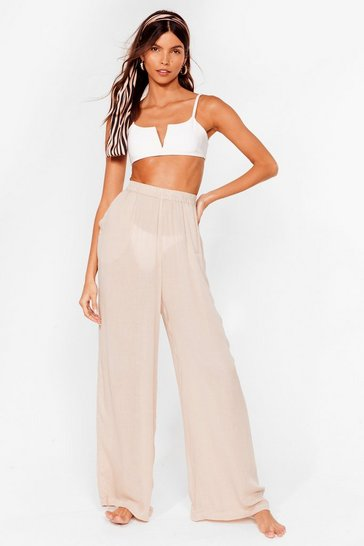 Stone Long Time No Sea Cover Up Trousers