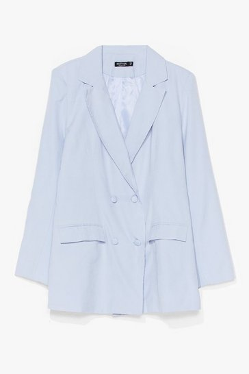 Blue Act Professional Oversized Blazer