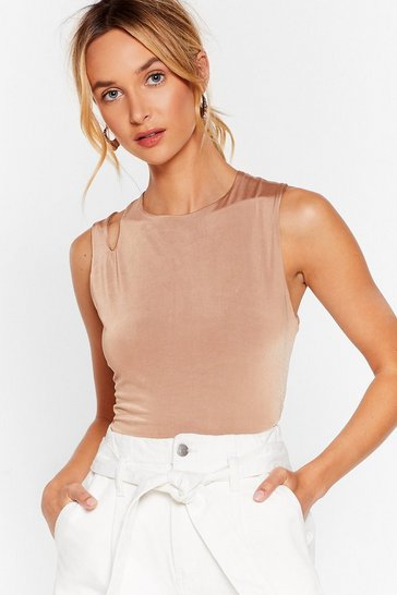 Chocolate Crop to Get It Cut-Out Top