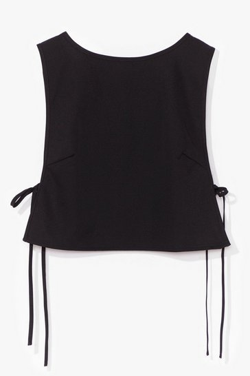 Black Tie and Find Out Vest Crop Top