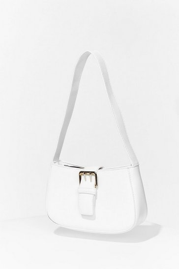 White WANT Go Buck-le Yourself Shoulder Bag