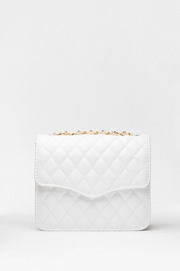 White WANT Quilt Playin' Games Woven Crossbody Bag
