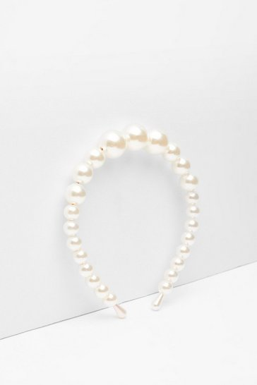 White Oh Hey Pearl-Inspired Headband