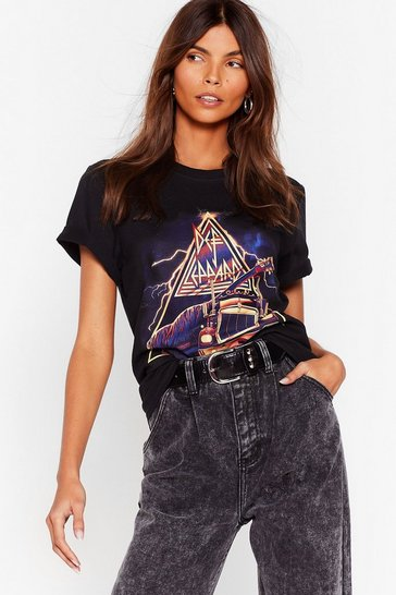 Black Def Leppard Tour Graphic Tee