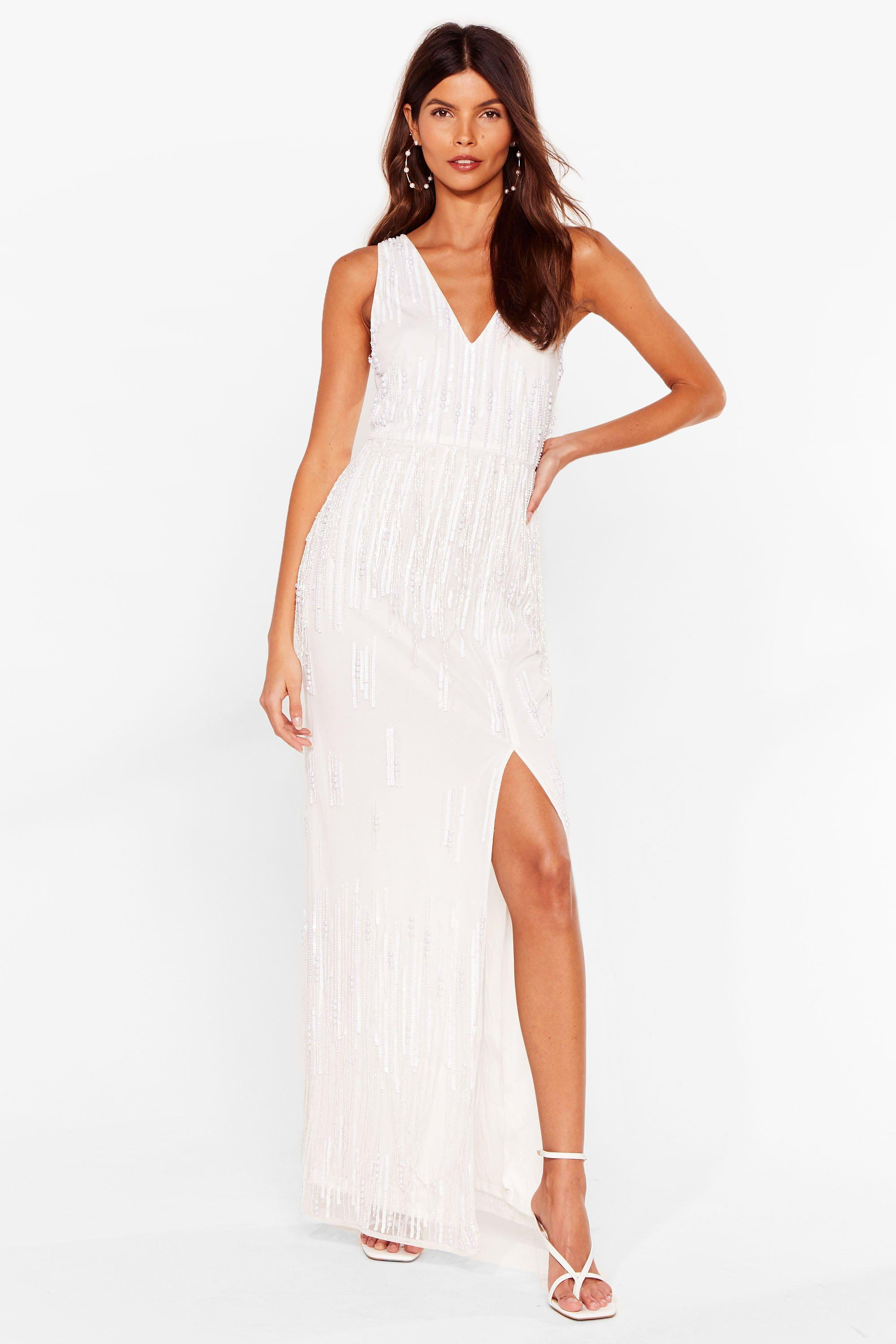 Tonight's the Night Embellished Maxi Dress