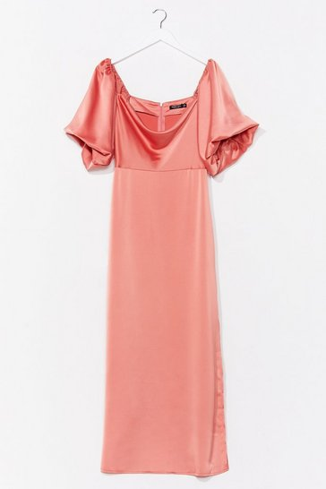 Amber Sleek Love Satin Maxi Dress
