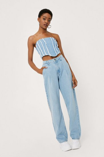 Light blue Washin' Out for You Wide-Leg Jeans