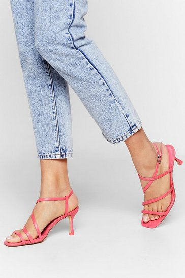Coral Get Strappy Kitten Heel Sandals