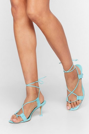 Mint The Lace is On Kitten Heel Sandals
