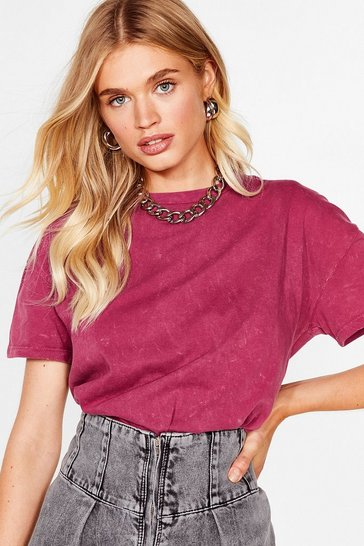 Burgundy Won't Wash With Me Relaxed Tee
