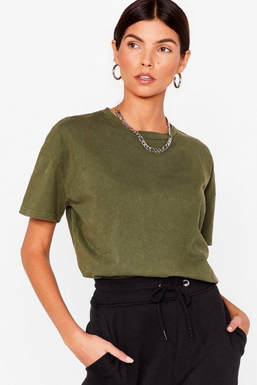 Khaki Won't Wash With Me Relaxed Tee