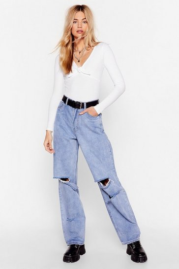 Light blue Raw the Sign Relaxed Distressed Jeans