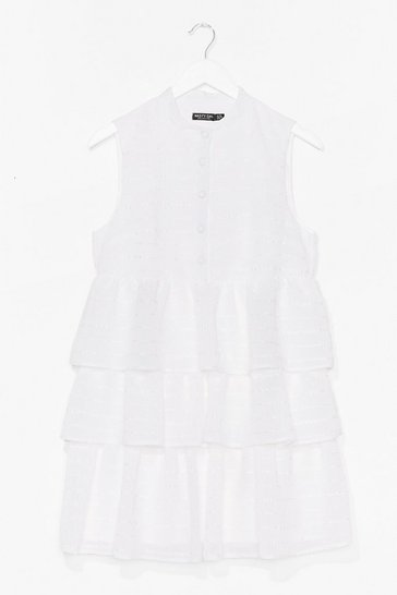 White Tier's to Never Growing Up Ruffle Mini Dress