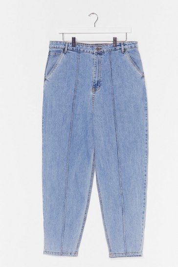 Stone Plus Size Pintuck High Waist Jean