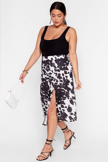 White Cow So Plus Midi Skirt