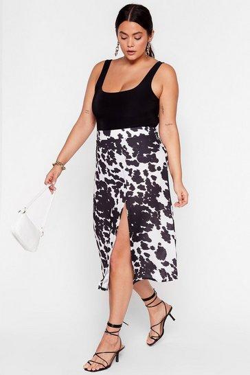 White Cow So Plus Midi Skirt
