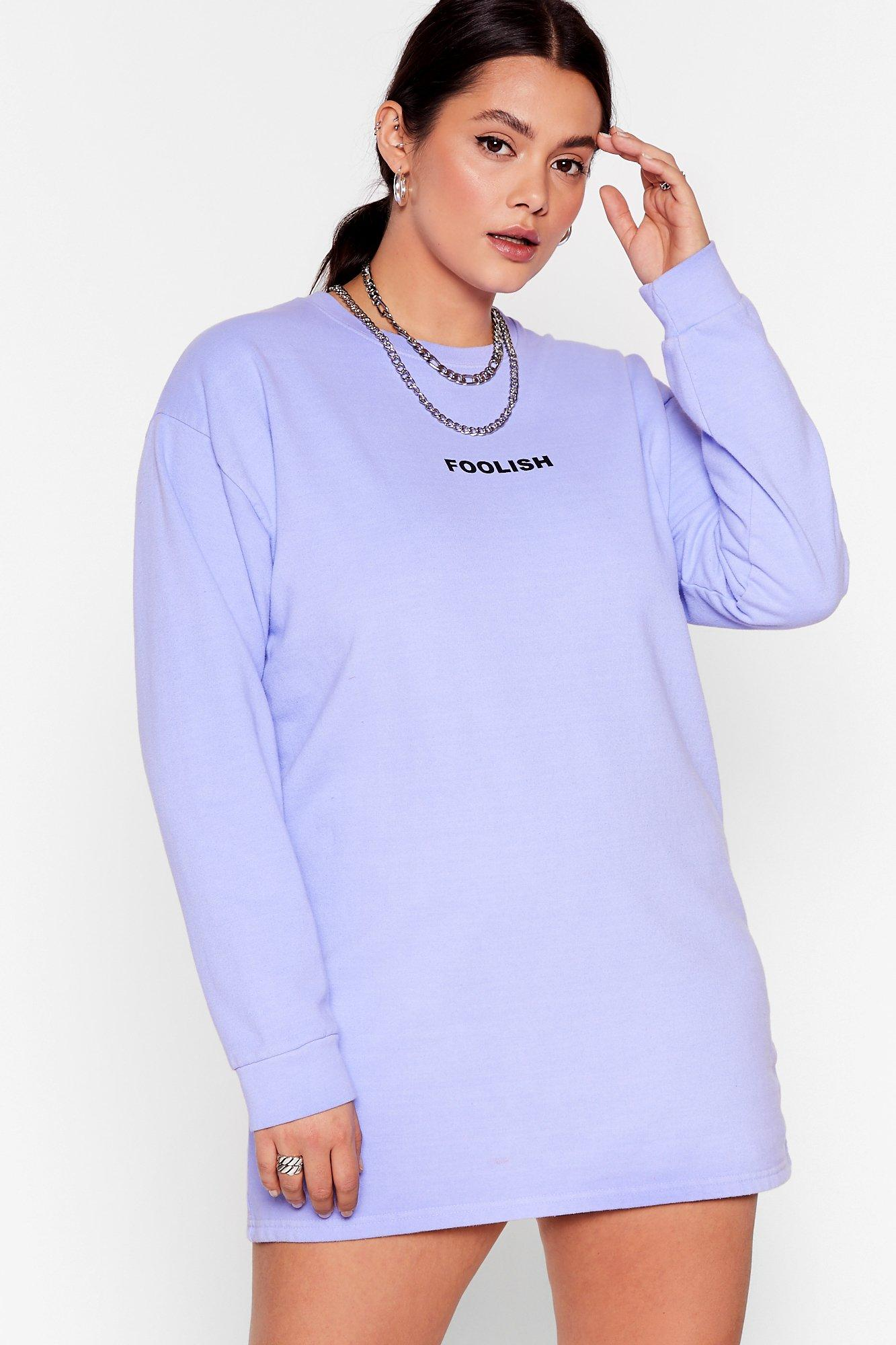 Don't Be Foolish Plus Sweatshirt Dress 7