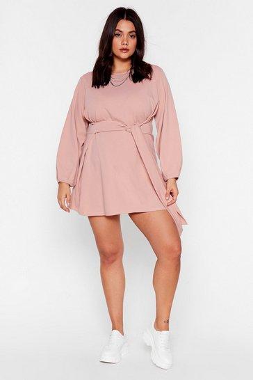 Pink Never Belt Better Plus Mini Dress