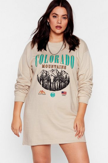 Sand Take a Hike Colarado Plus Graphic Sweatshirt Dress