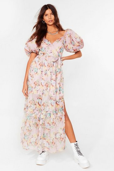 Pale pink Oh What a Feelin' Floral Maxi Dress