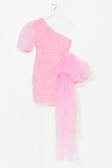 Pretty in Pink Organza Mini Dress