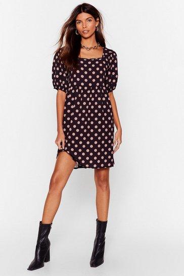 Black Dotta Have the Final Word Puff Sleeve Mini Dress