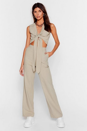 Sage Perfect Pair High-Waisted Wide-Leg Pants
