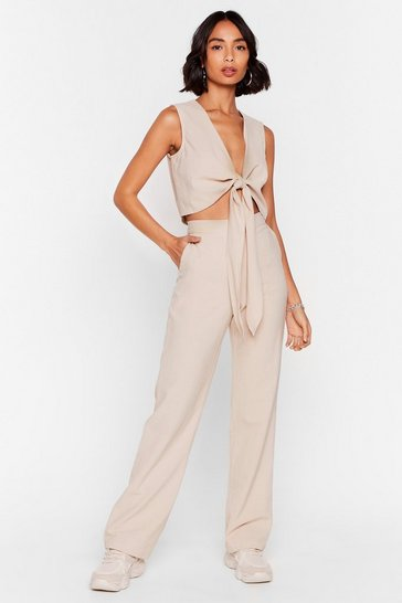 Stone Perfect Pair High-Waisted Wide-Leg Pants