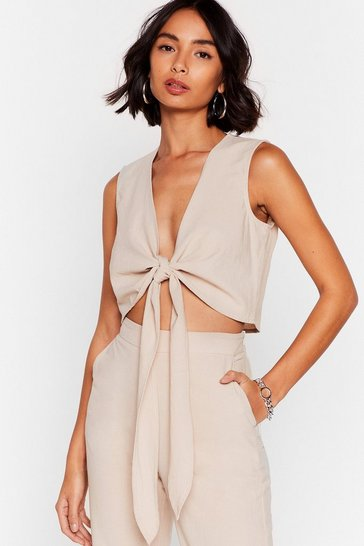 Sage Perfect Pair Tie Crop Top