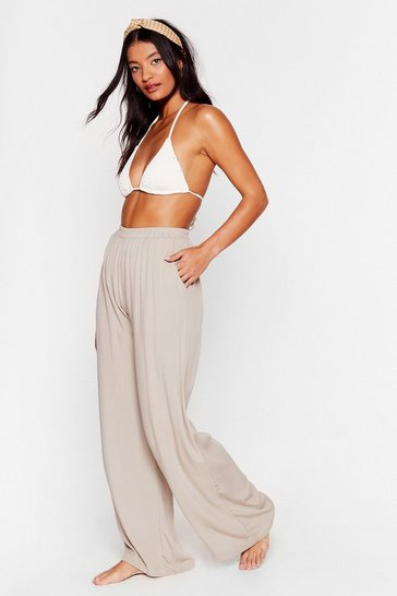 Stone We Sea Everything Wide-Leg Cover-Up Pants
