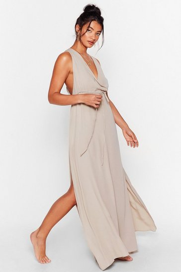 Stone Water You Waitin' For Cover-Up Maxi Dress