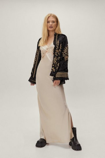 Black Velvet Embroidered Jacket