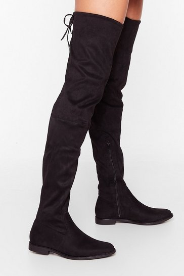 Black Low Blow Over-the-Knee Boots